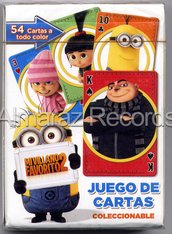 Despicable Me 2 54 Poker Cards Deck - Mi Villano Favorito 2 - Almaraz Records | Tienda de Discos y Películas  - 1