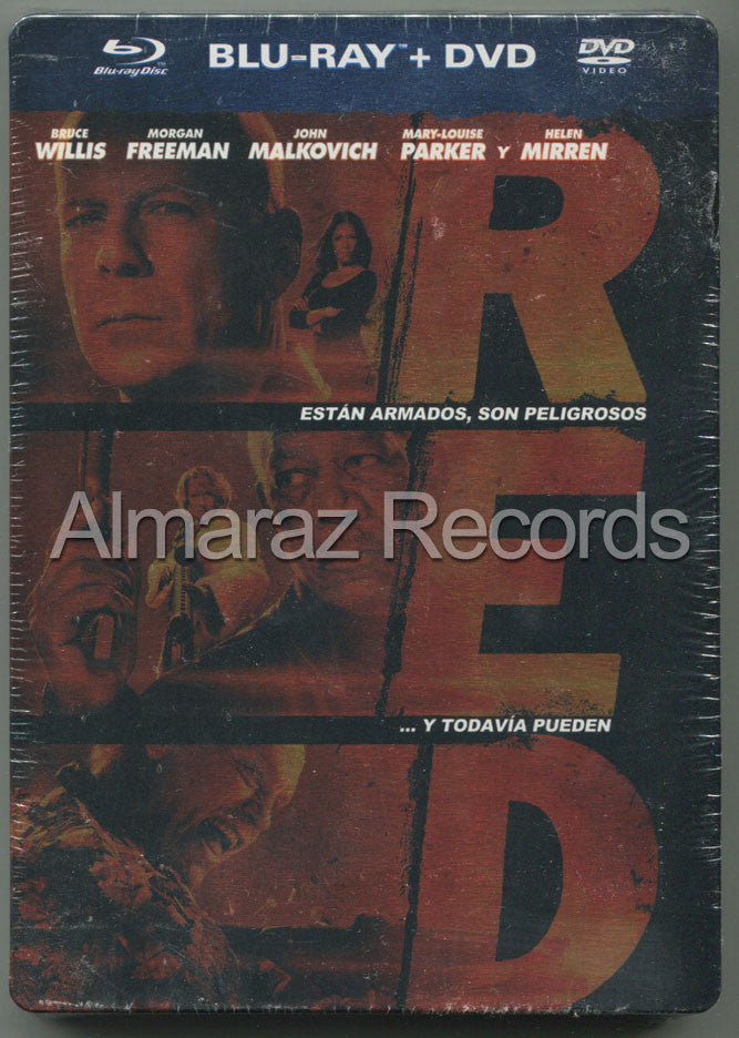 RED Steelbook Blu-Ray+DVD - Bruce Willis - Almaraz Records | Tienda de Discos y Películas  - 1