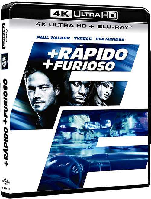 +Rapido +Furioso Blu-Ray 4K Ultra HD + Blu-Ray