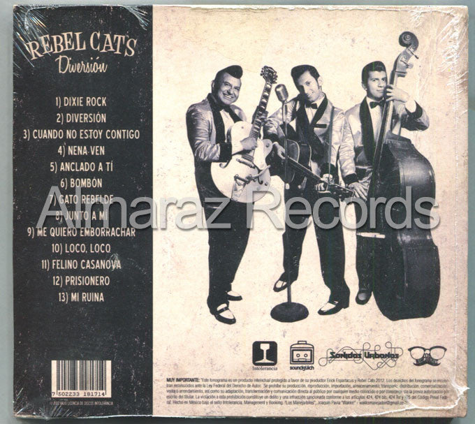 Rebel Cats Diversion CD - Almaraz Records | Tienda de Discos y Películas  - 2