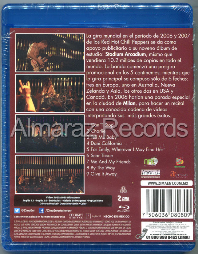 Red Hot Chili Peppers Live In Milan 2006 Blu-Ray - Almaraz Records | Tienda de Discos y Películas  - 2