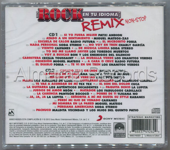Rock En Tu Idioma Remix Non-Stop 2CD