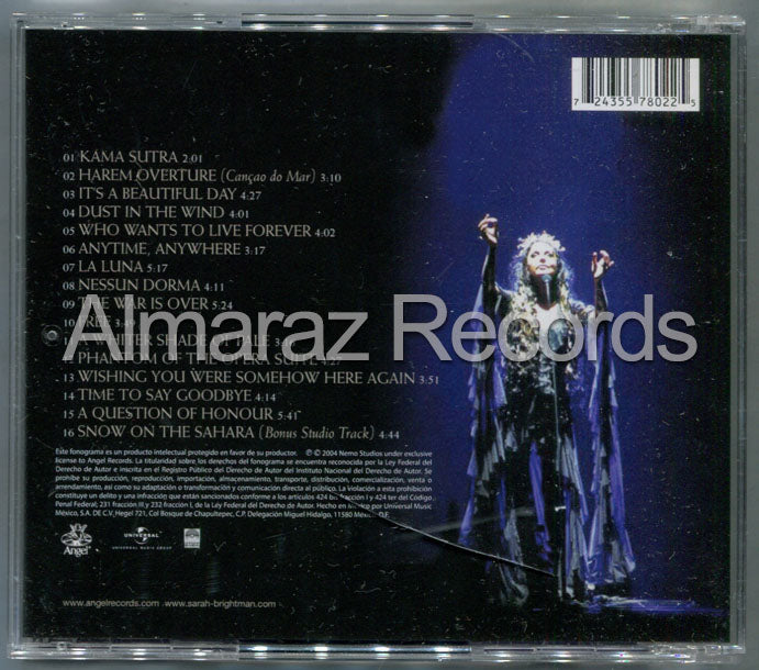 Sarah Brightman Live From Las Vegas CD (Usado)