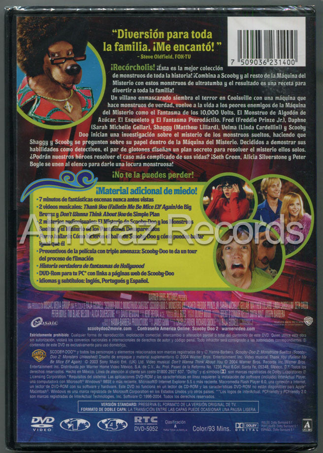 Scooby Doo 2 Monstruos Sueltos DVD - Scooby Doo 2 Monsters Unleashed - Almaraz Records | Tienda de Discos y Películas  - 2