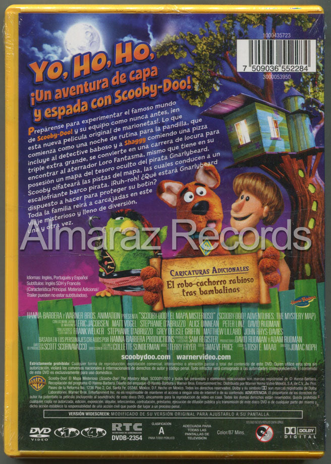 Las Aventuras De Scooby Doo El Mapa Misterioso DVD - Scooby Doo Adventures The Mystery Map
