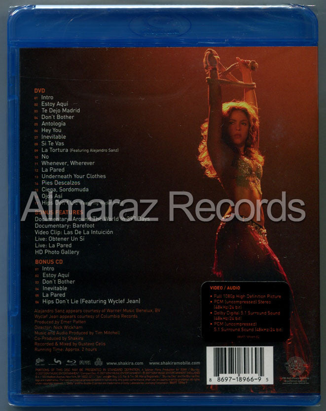 Shakira Oral Fixation Tour Blu-Ray+CD [Import] - Almaraz Records | Tienda de Discos y Películas  - 2