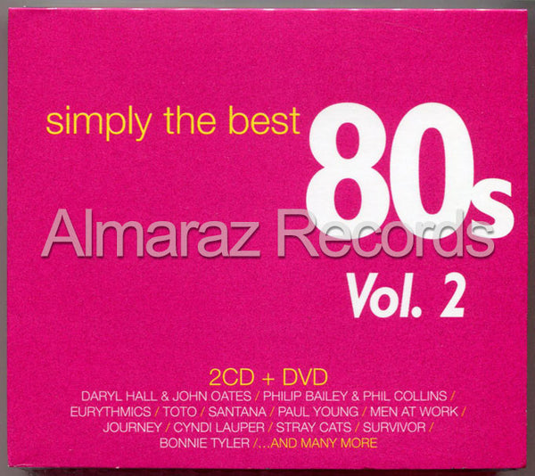 Simply The Best 80's Vol. 2 2CD+DVD