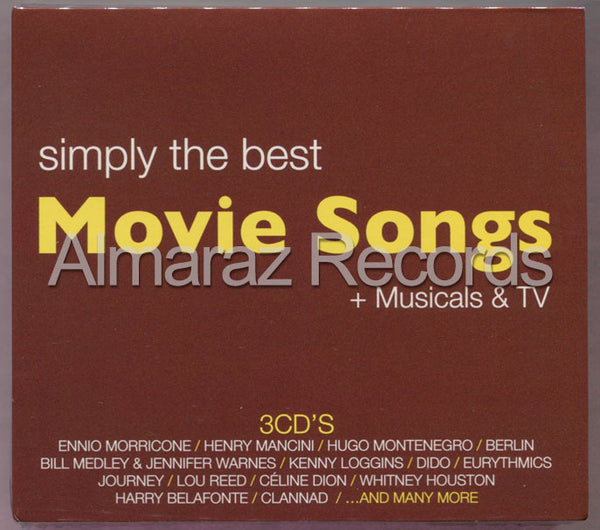 Simply The Best Movie Songs + Musicals & TV 3CD