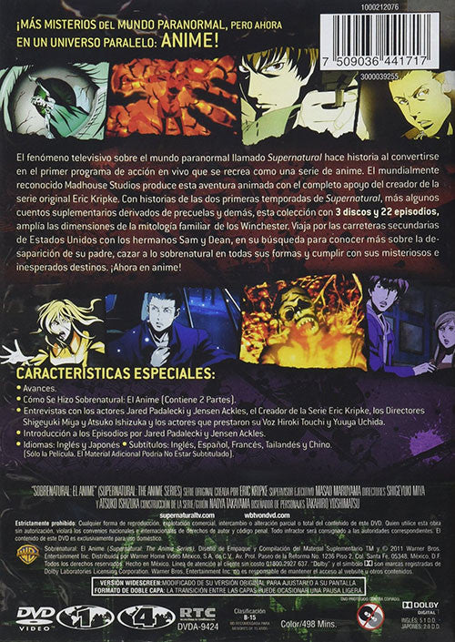 Sobrenatural El Anime 3DVD - Supernatural The Anime Series - Almaraz Records | Tienda de Discos y Películas  - 2