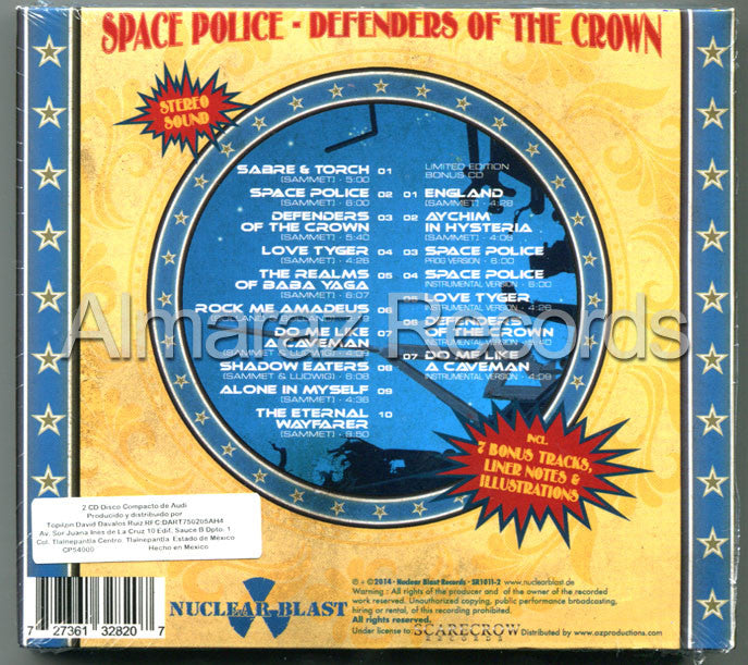 Edguy Space Police Defender Of The Crown 2CD - Almaraz Records | Tienda de Discos y Películas  - 2