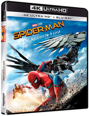 Spider-Man De Regreso A Casa Blu-Ray 4K Ultra HD + Blu-Ray