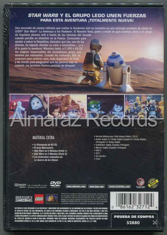 Lego Star Wars La Amenaza A Los Padawan DVD - Lego Star Wars The Padawan Menace - Almaraz Records | Tienda de Discos y Películas  - 2