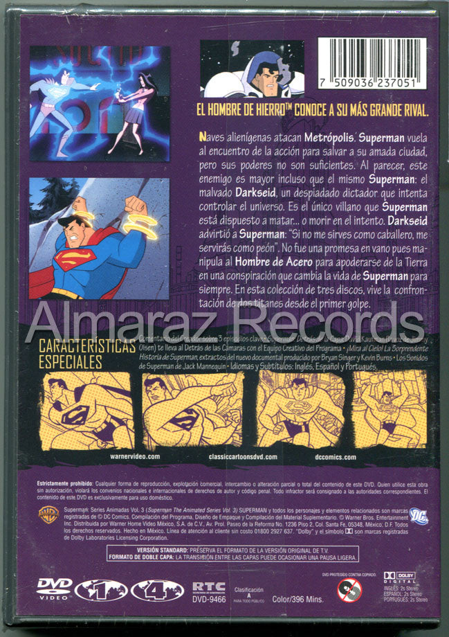 Superman Series Animadas Vol. 3 3DVD - Superman Animated Series Vol 3 - Almaraz Records | Tienda de Discos y Películas  - 2