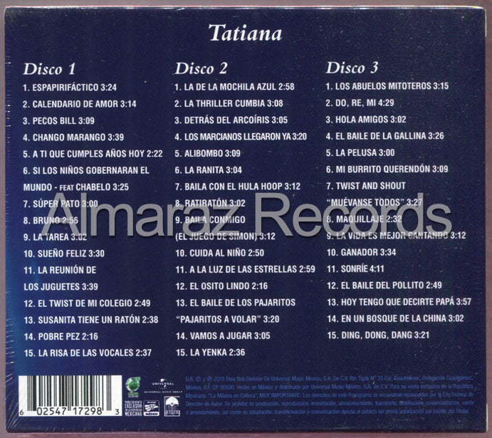Tatiana Serie Triple 3CD - Exitos