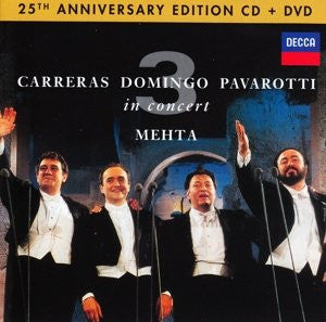The 3 Tenors In Concert 25th Anniversary Edition CD+DVD - Almaraz Records | Tienda de Discos y Películas