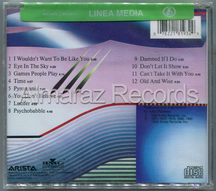 The Alan Parsons Project The Best Of CD - Almaraz Records | Tienda de Discos y Películas  - 2