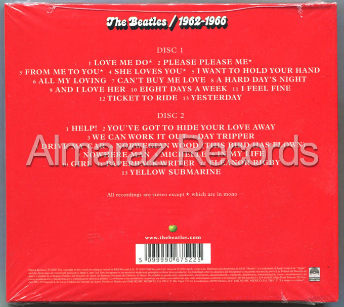 The Beatles 1962-1966 2CD - RED - Almaraz Records | Tienda de Discos y Películas  - 2