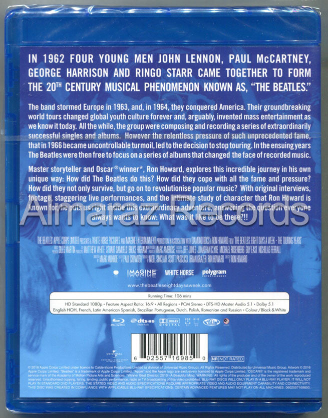 The Beatles Eight Days A Week The Touring Years Blu-Ray - Almaraz Records | Tienda de Discos y Películas  - 2
