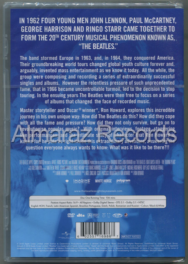 The Beatles Eight Days A Week The Touring Years DVD - Almaraz Records | Tienda de Discos y Películas  - 2