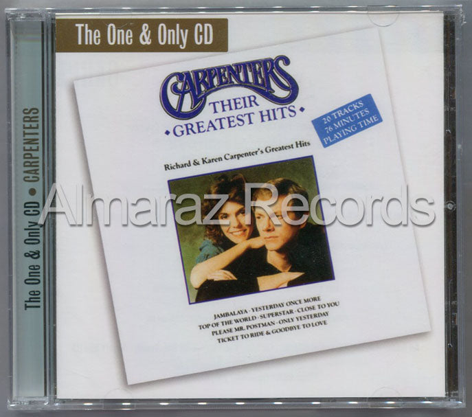 The Carpenters Their Greatest Hits CD - The One & Only CD