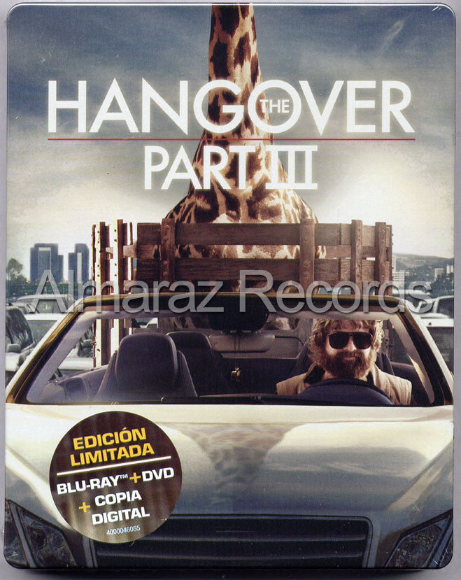 The Hangover Part III Steelbook Blu-Ray+DVD - Almaraz Records | Tienda de Discos y Películas  - 1