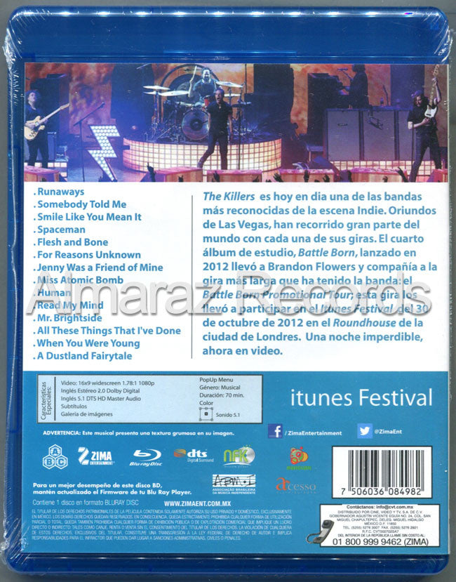 The Killers itunes Festival Blu-Ray - Almaraz Records | Tienda de Discos y Películas  - 2