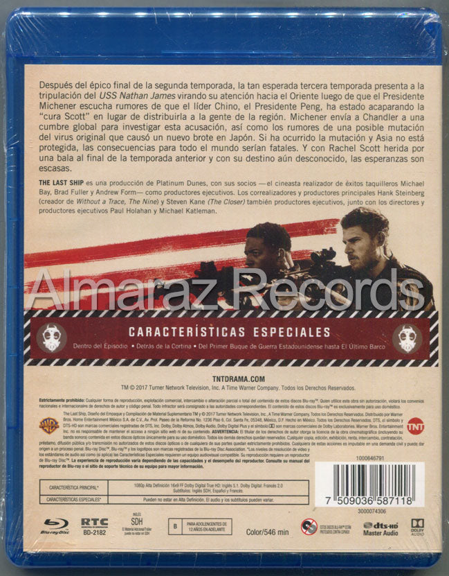 The Last Ship Temporada 3 Blu-Ray
