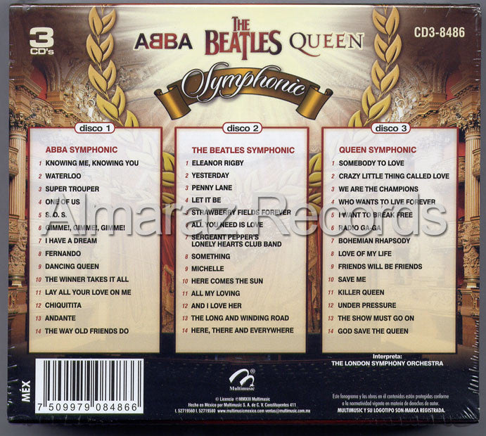 ABBA The Beatles Queen Symphonic 3CD - Almaraz Records | Tienda de Discos y Películas  - 2
