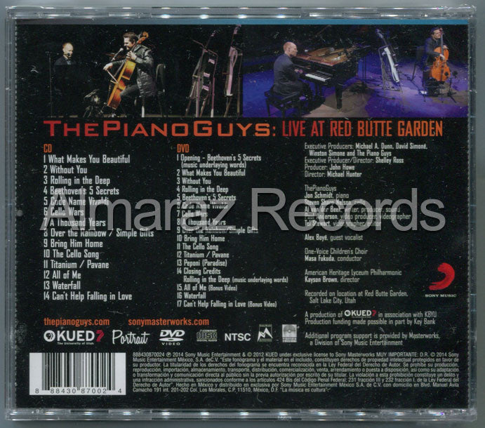 The Piano Guys Live At Red Butte Garden CD+DVD - Almaraz Records | Tienda de Discos y Películas  - 2