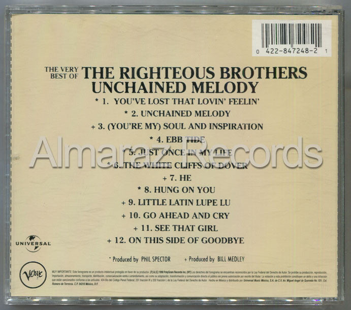 The Righteous Brothers Unchained Melody The Very Best Of