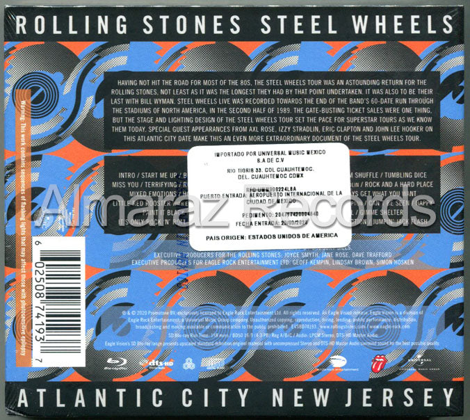 The Rolling Stones Steel Wheels Live 2CD+Blu-Ray