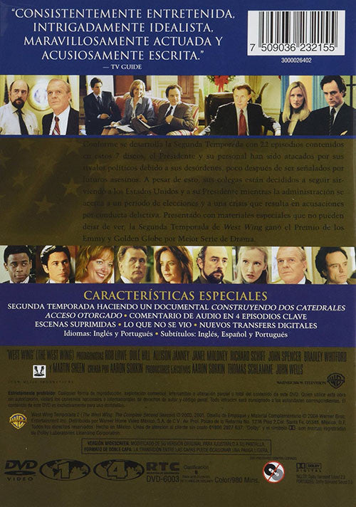 The West Wing Temporada 2 7DVD - Almaraz Records | Tienda de Discos y Películas  - 2