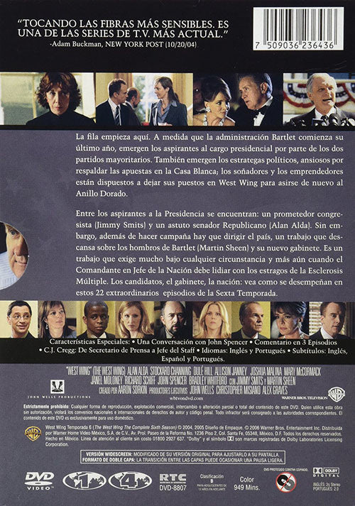 The West Wing Temporada 6 7DVD - Almaraz Records | Tienda de Discos y Películas  - 2