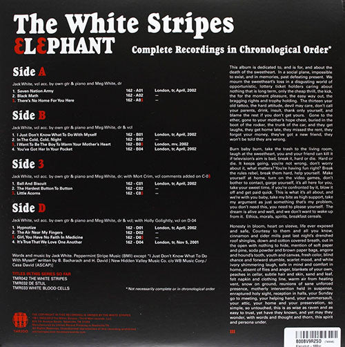 The White Stripes Elephant Vinyl 2LP - Almaraz Records | Tienda de Discos y Películas  - 2