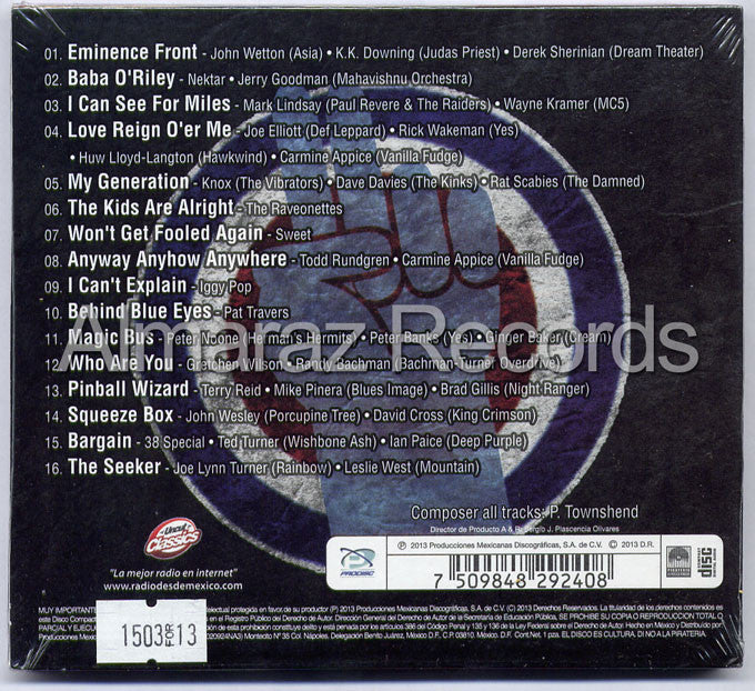 Who Are You An All Star Tribute To The Who CD - Almaraz Records | Tienda de Discos y Películas  - 2