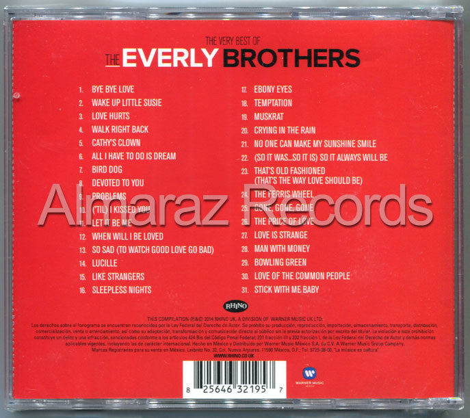 The Everly Brothers The Very Best Of The Everly Brothers CD - Almaraz Records | Tienda de Discos y Películas  - 2