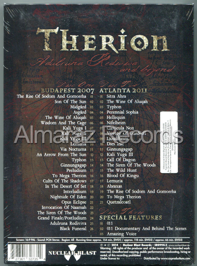 Therion Adulruna Rediviva And Beyond 3DVD - Almaraz Records | Tienda de Discos y Películas  - 2