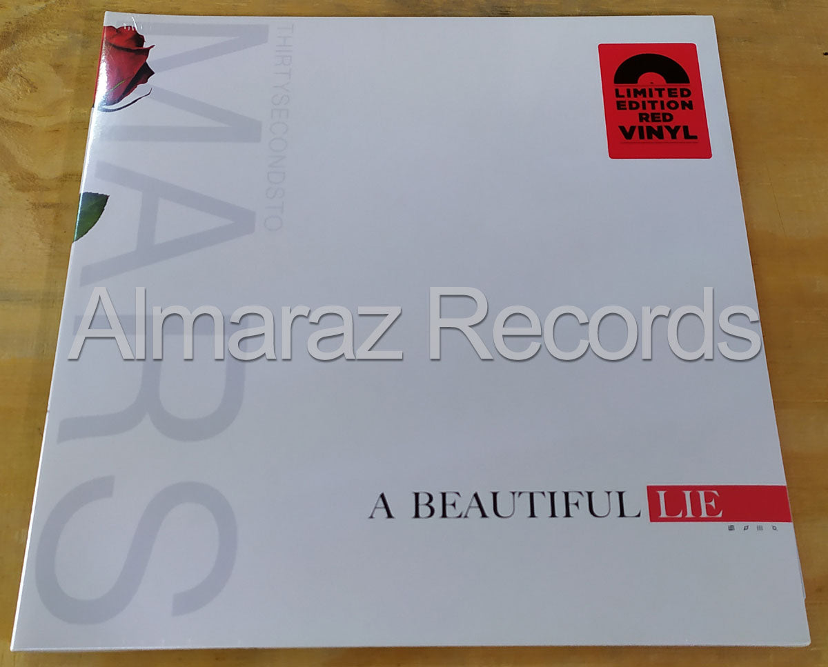 Thirty Seconds To Mars A Beautiful Lie Limited Edition Red Vinyl LP