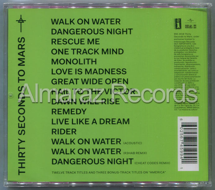 Thirty Seconds To Mars America CD