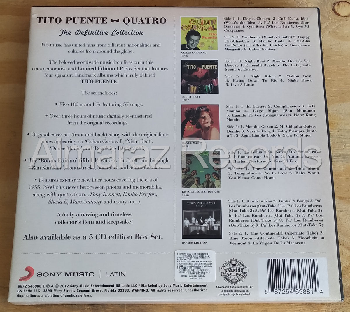 Tito Puente Quatro The Definitive Collection Vinyl LP Boxset