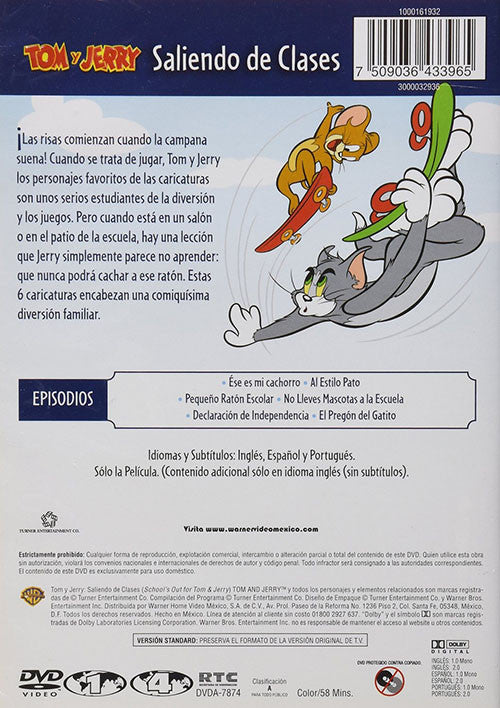 Tom Y Jerry Saliendo De Clases DVD - School's Out For Tom & Jerry - Almaraz Records | Tienda de Discos y Películas  - 2