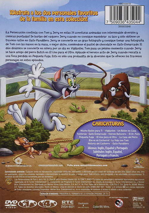 Tom Y Jerry Las Persecuciones Vol 5 DVD - Tom & Jerry Greatest Chases Vol 5 - Almaraz Records | Tienda de Discos y Películas  - 2