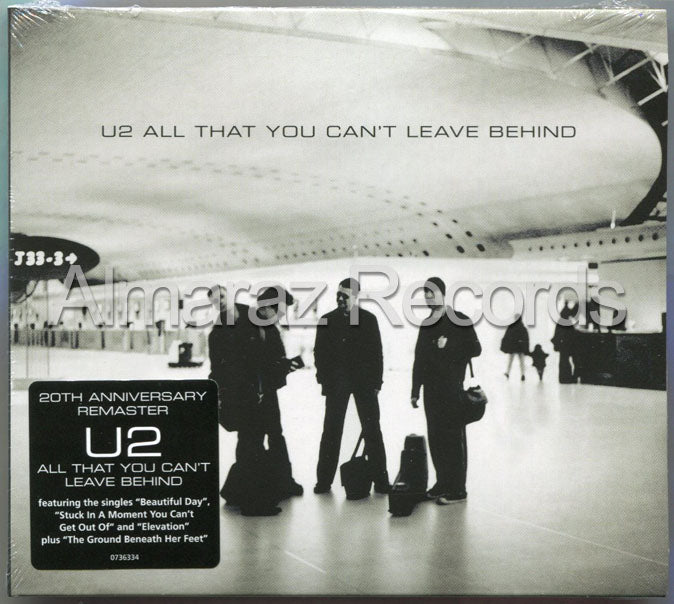 U2 All That You Can't Leave Behind 20th Anniversary CD