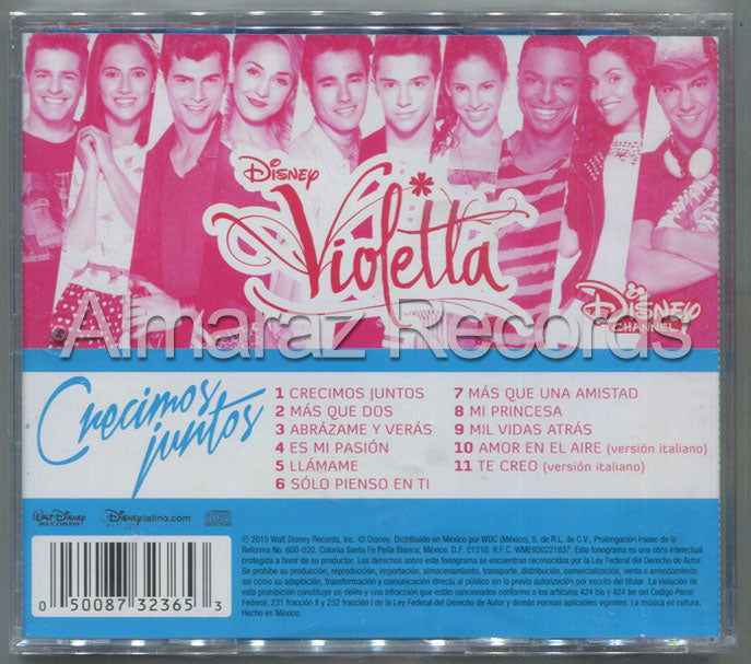 Disney Violetta Creciendo Juntos CD