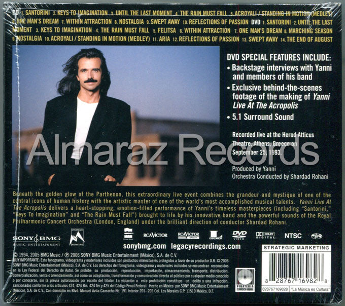 Yanni Live At The Acropolis CD+DVD - Almaraz Records | Tienda de Discos y Películas  - 2