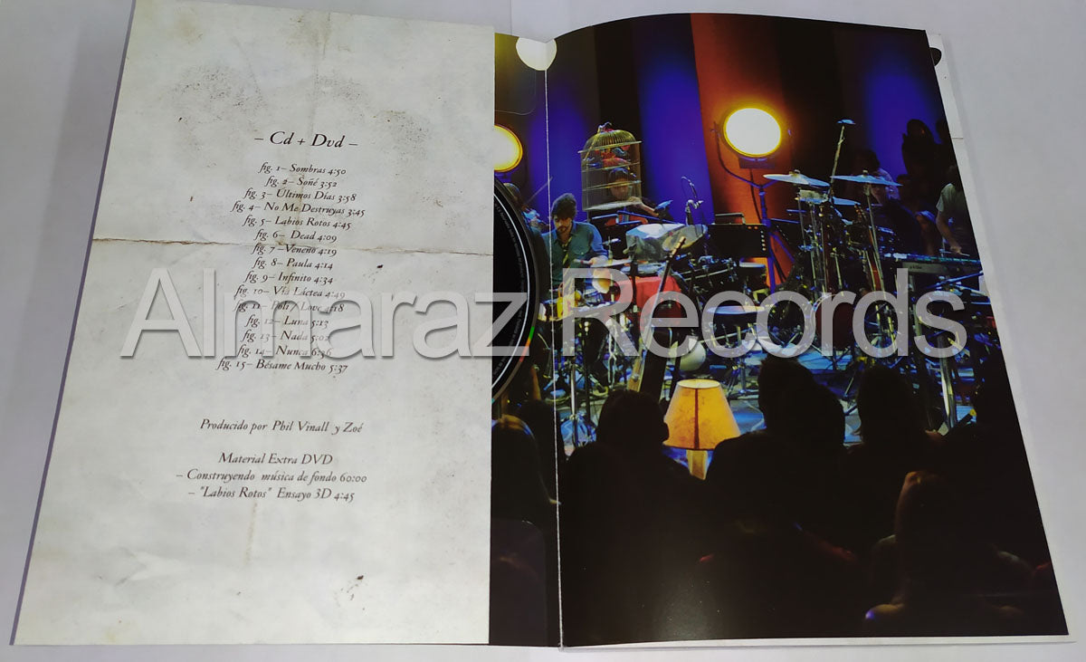 Zoe MTV Unplugged Musica De Fondo CD+DVD+Libro