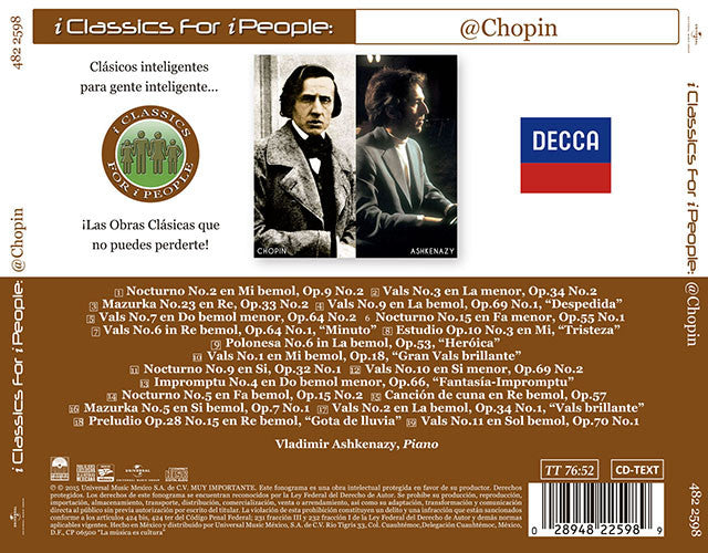 i Classics For i People Chopin By Vladimir Ashkenazy CD - Almaraz Records | Tienda de Discos y Películas  - 2