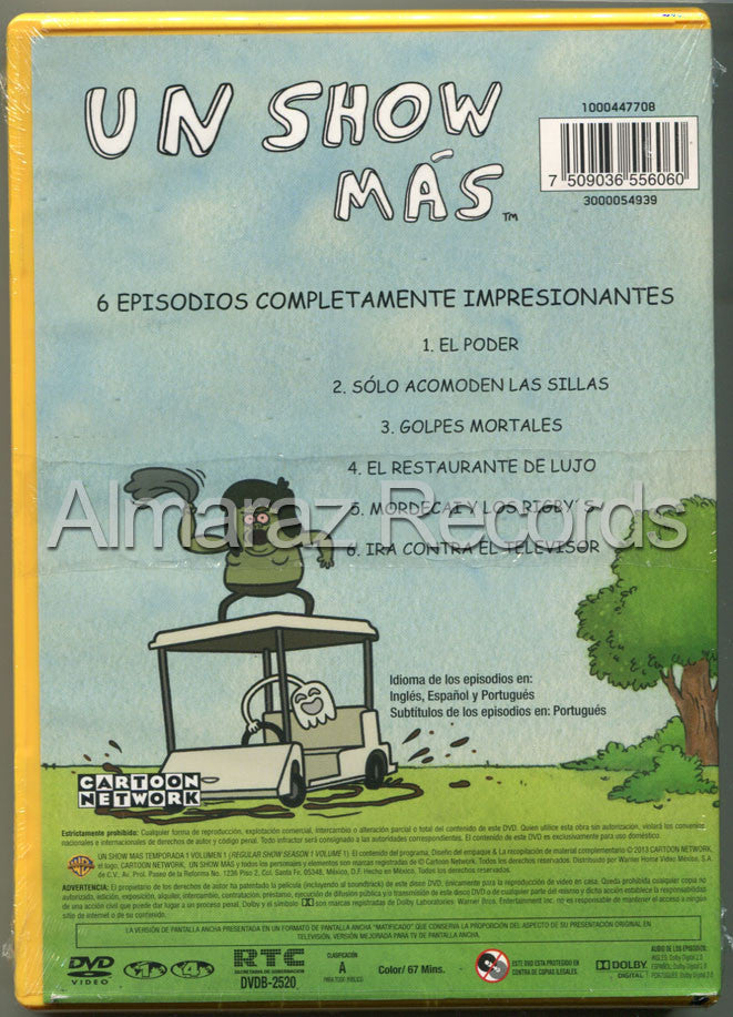 Un Show Mas Temporada 1 Volumen 1 DVD - Regular Show Season 1 Vol 1 - Almaraz Records | Tienda de Discos y Películas  - 2