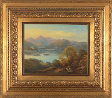 Load image into Gallery viewer, 19th C,  Between Neo-Classicism and Romanticism, Landscape, Signed AC-Castelli Alessandro (1809-1902), Mountanious Landscape, Oil on Canvas, 64 x 55 cm, Framed and dated 1875.