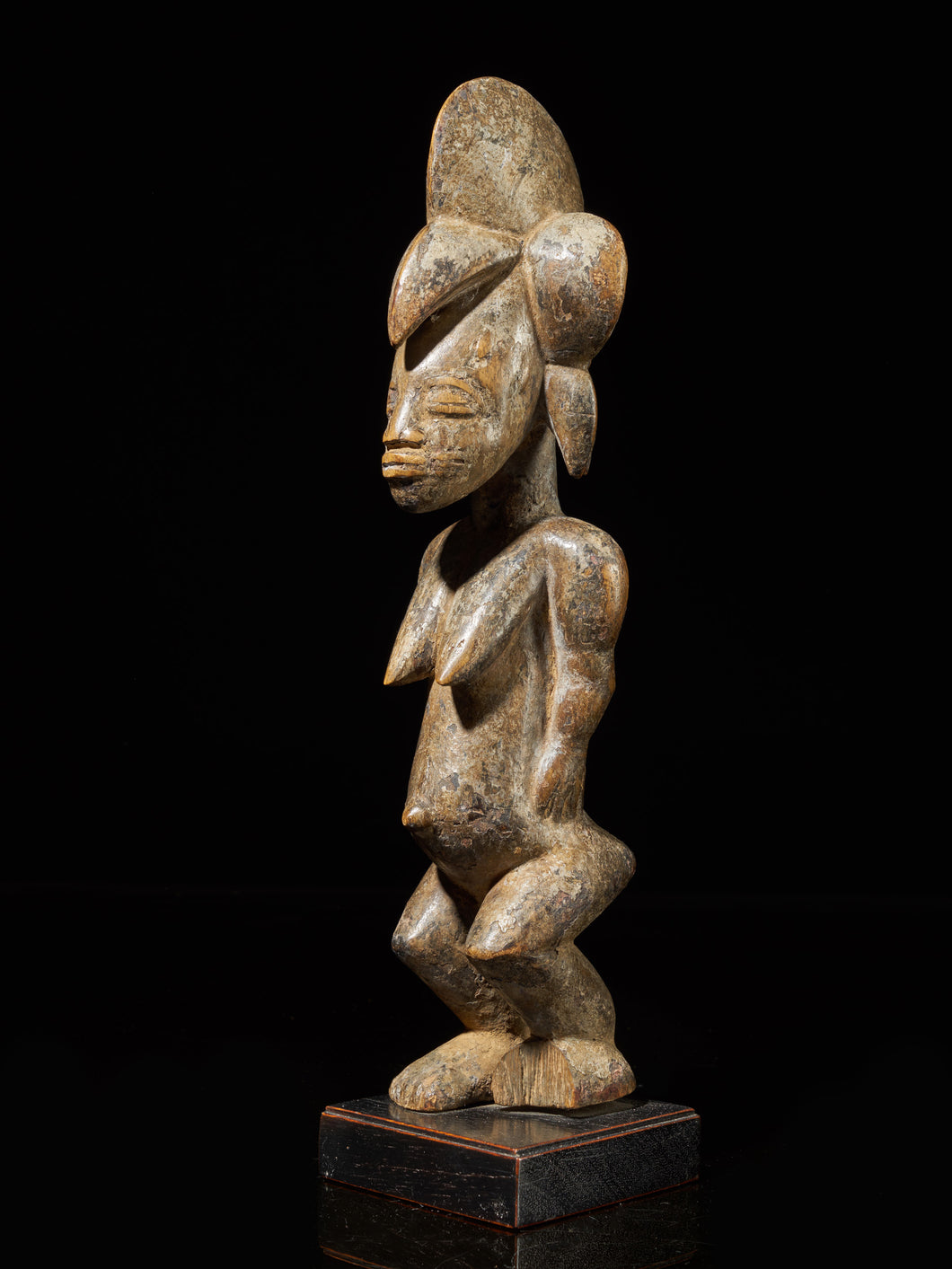 Senufo People, Ivory Coast. Standing Female Tugubele Divination Figure.